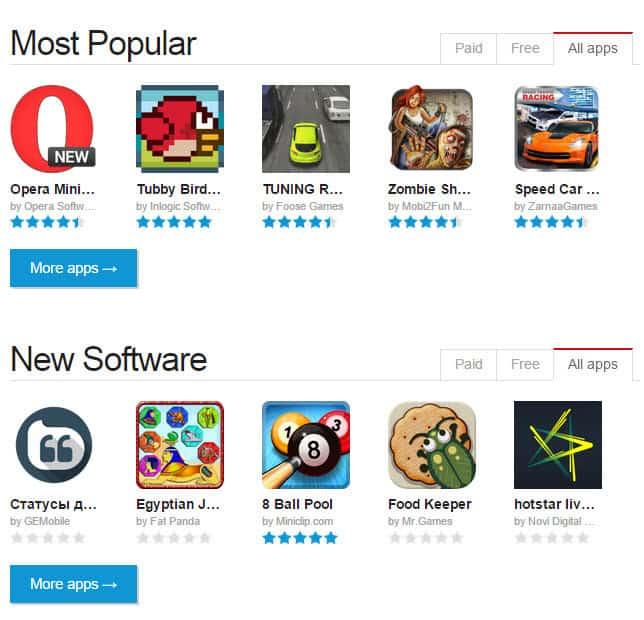 Opera mini mobile store free download