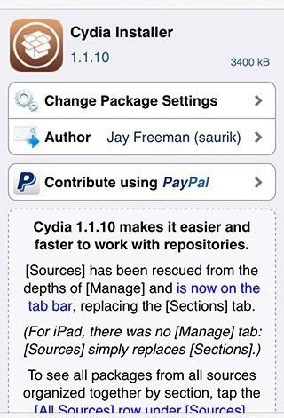 Cydia Changes