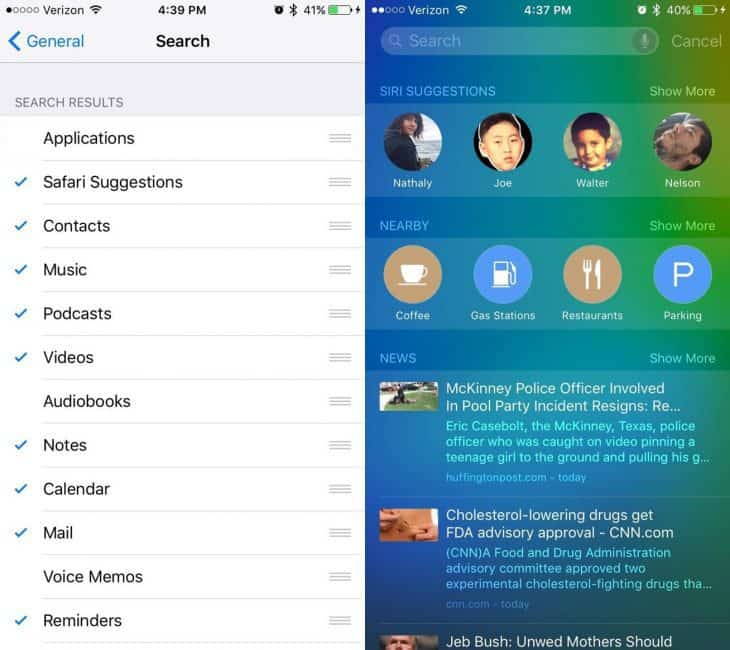 ios how to turn off contacts