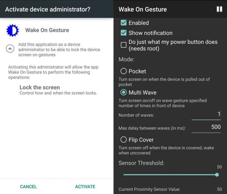 How To: Turn on the screen of your Android phone just by waving