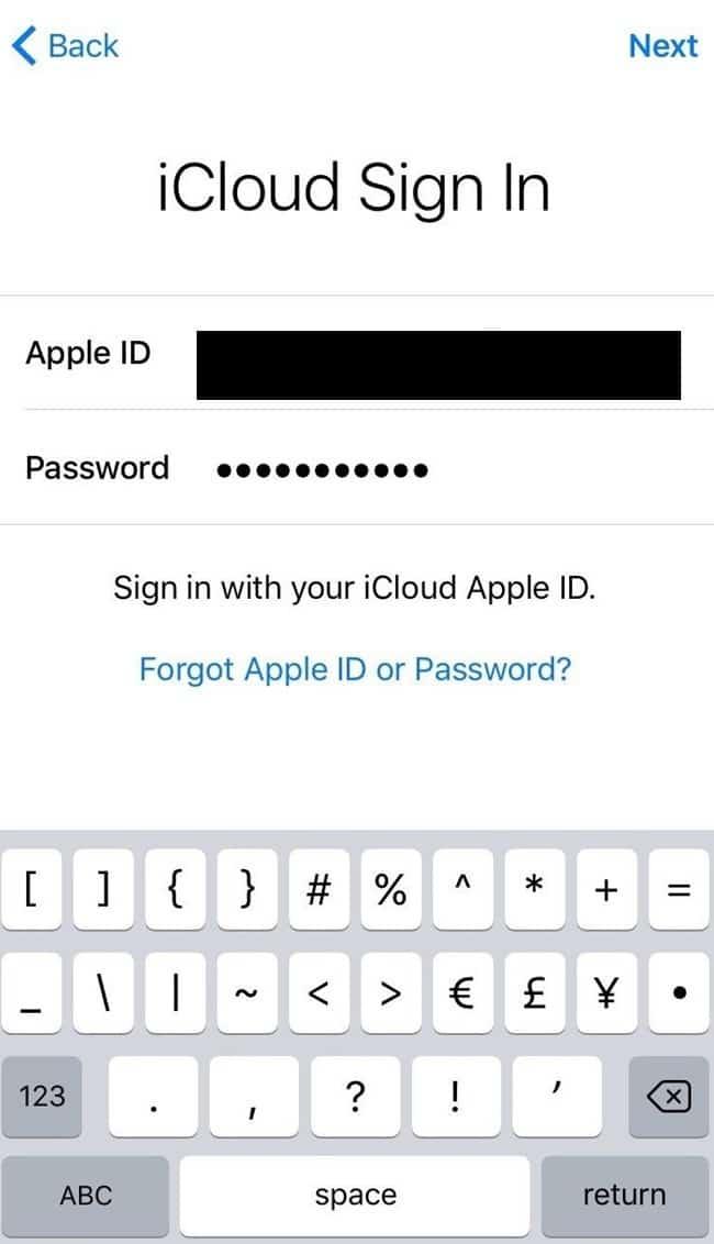 iCloud Sign-in