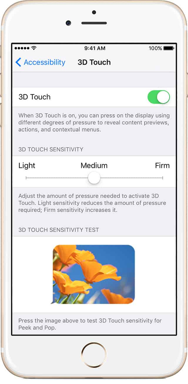 3D Touch Accessibility