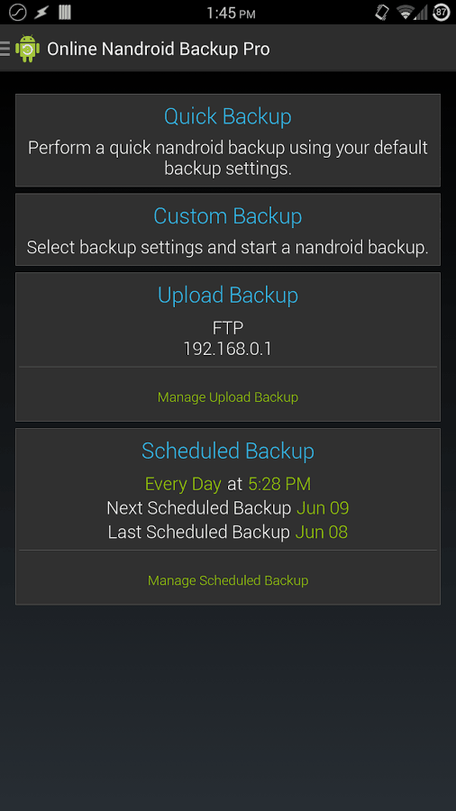 Online Nandroid Backup