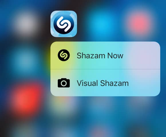 Shazam for iOS - 3D Touch