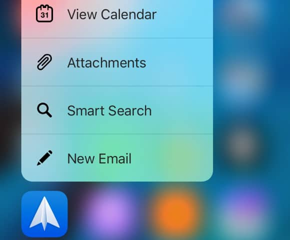 Spark for iOS - 3D Touch