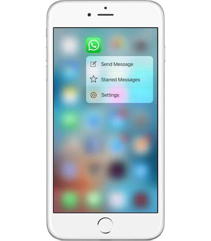 WhatsApp 3D Touch