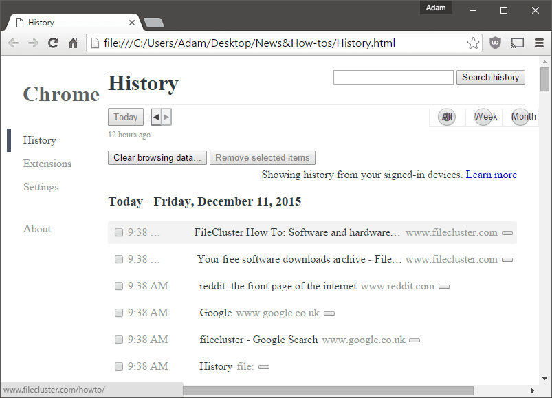 How To: Export and save your browsing history