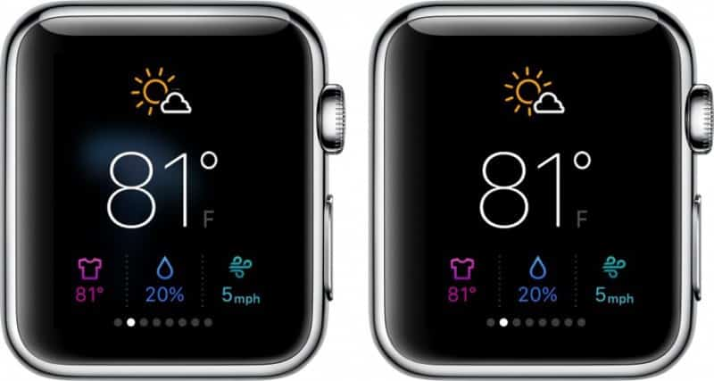 Apple Watch 'Reduce Transparency' feature