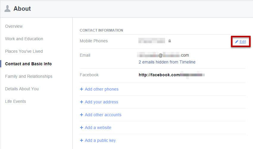 Guide remove or hide facebook contacts on your iphone or ipad facebook 1 ccuart Image collections