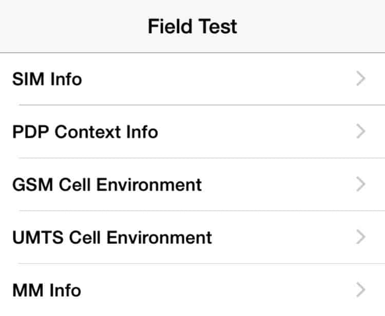 iPhone Field test