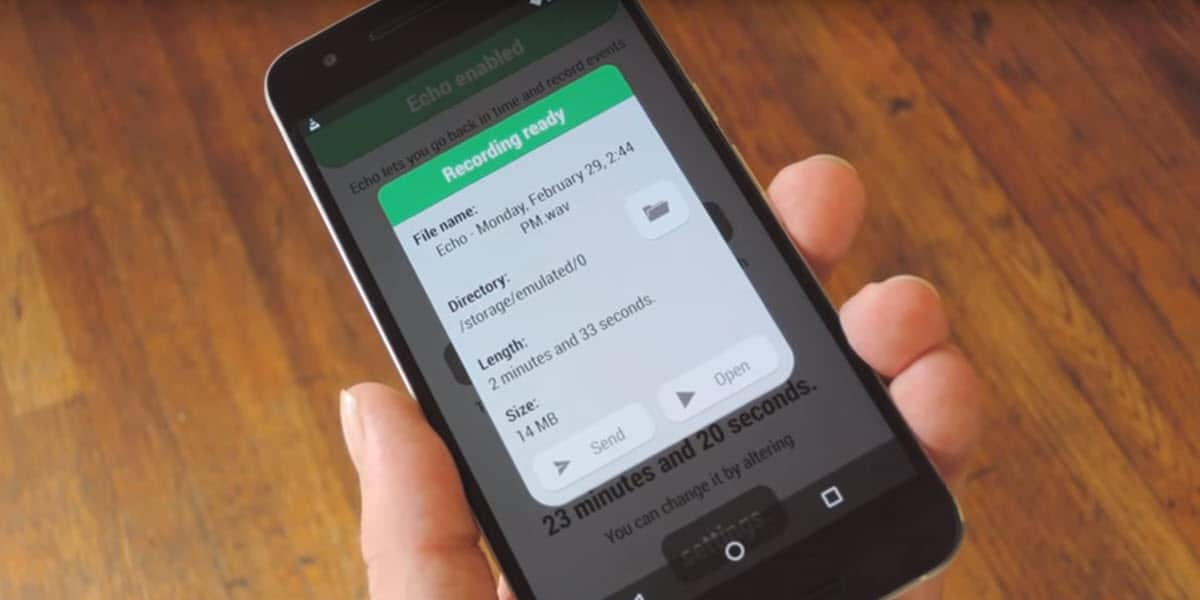 Echo is an app that will record audio 24/7 on your Android