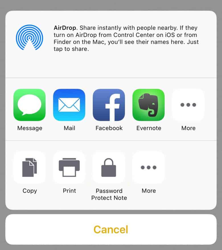 iOS 9.3 features - Password-protected Notes