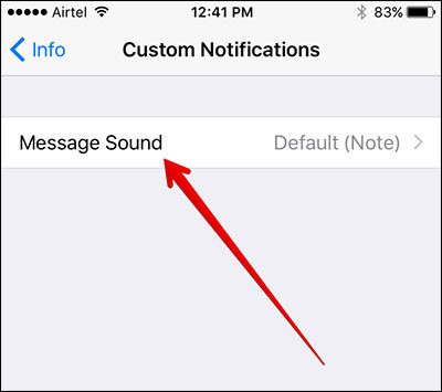 Change sound notifications in WhatsApp for iOS 1