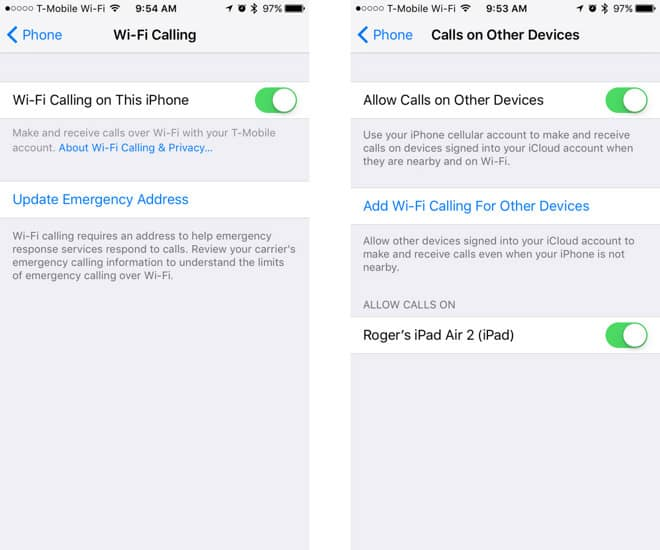 iphone wifi calling tip enable wi fi calling on iphone 1828
