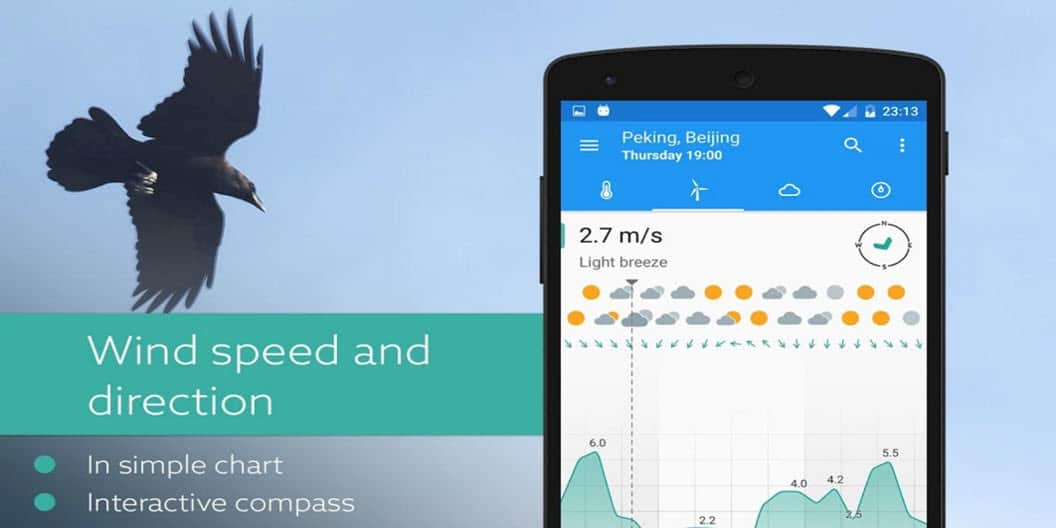 Klara is a clean and easy to read weather app for Android