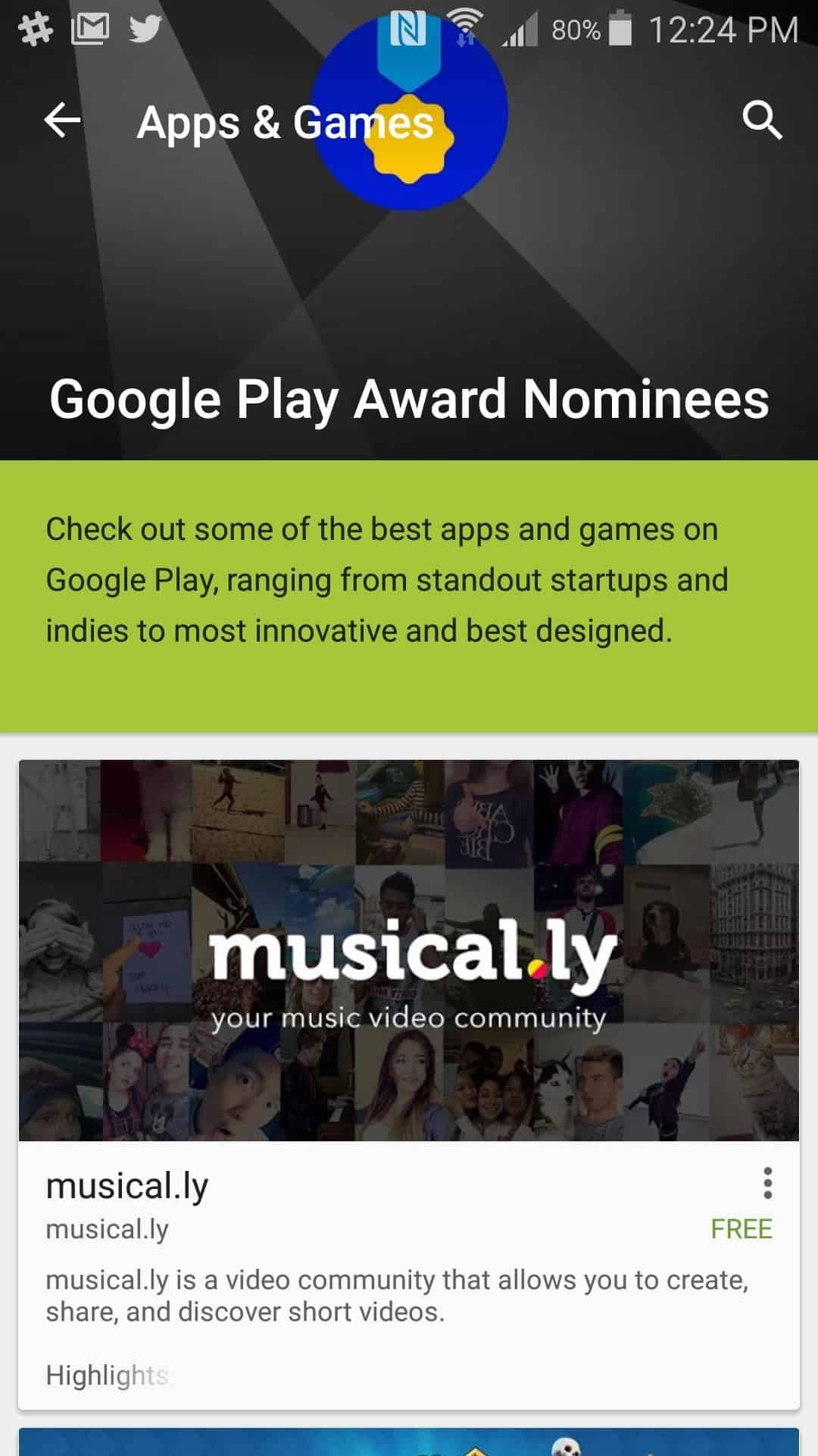 See Google Play Awards winning apps in the Play Store