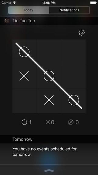 iOS Notification Center games