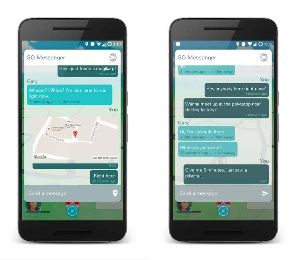 Pokemon Go messenger app