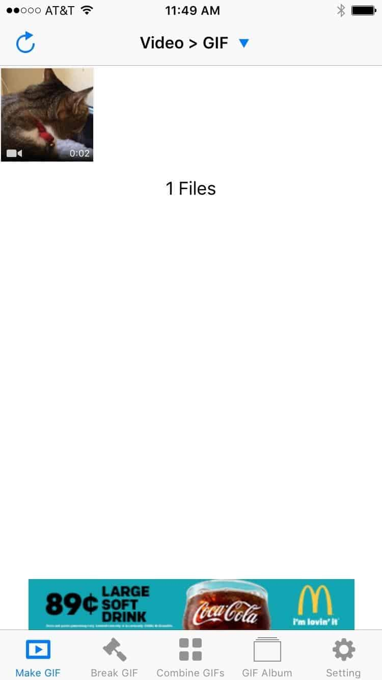 convert any media file to GIF on iOS