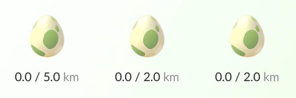 Pokémon Go egg hatching rewards list