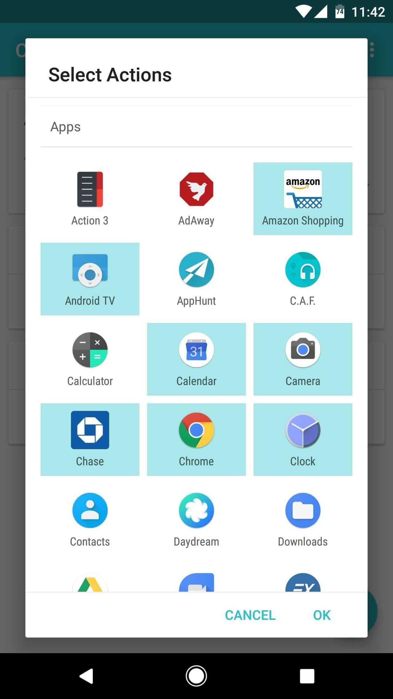 add a contextual folder to your Android's home screen
