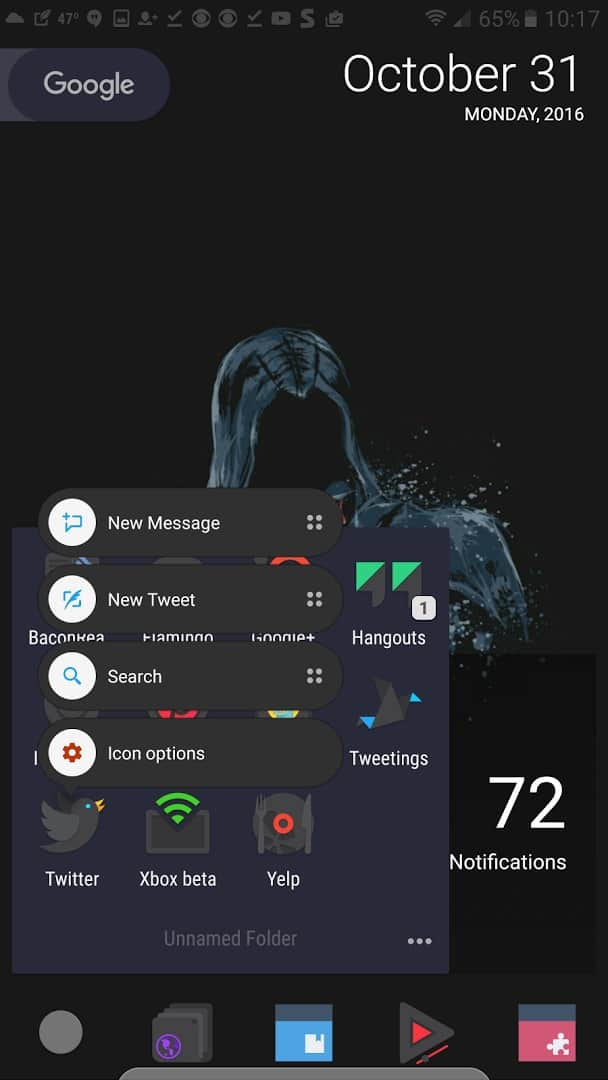 third-party apps with Android Nougat launcher shortcuts