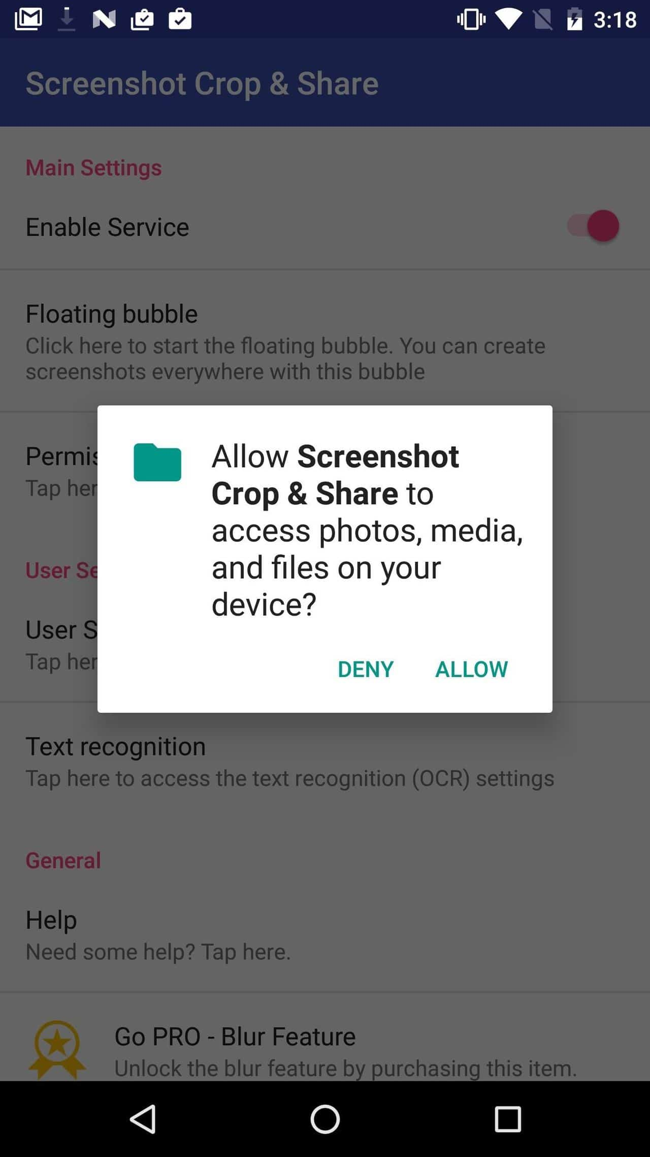capture area screenshots on Android