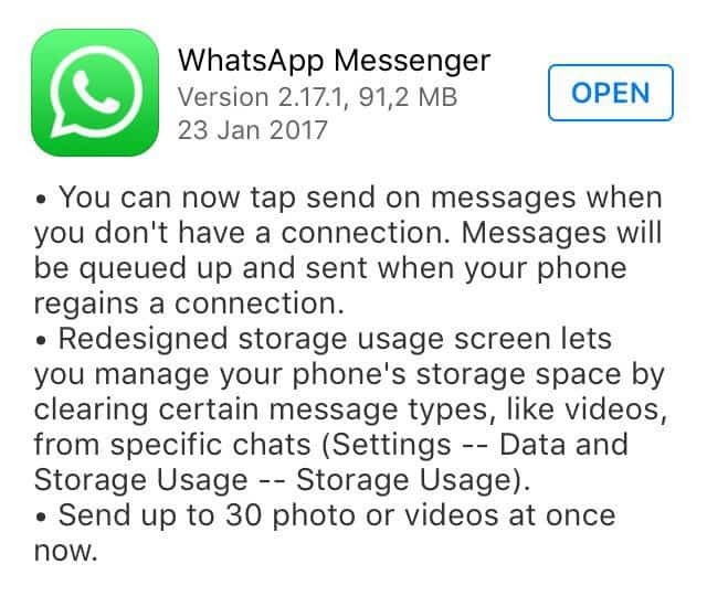 queue messages while offline in WhatsApp
