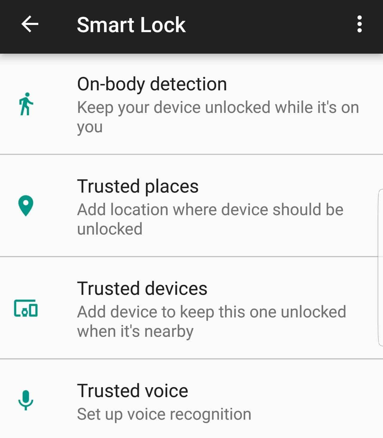 add trusted places to Samsun Galaxy S8