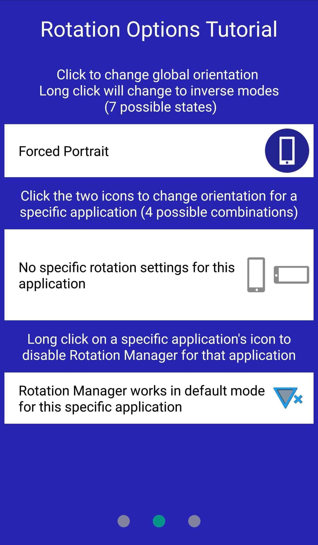 control screen rotation for specific apps on Android
