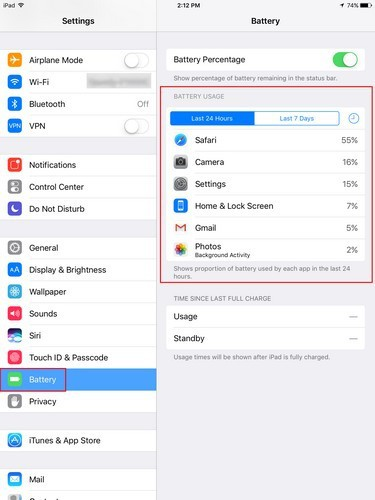 save iPad battery