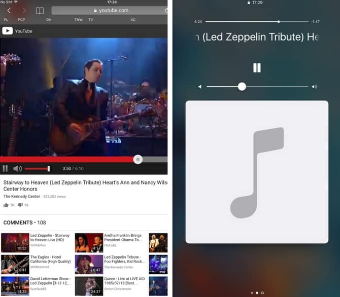 Play YouTube videos in the background on Android and iOS