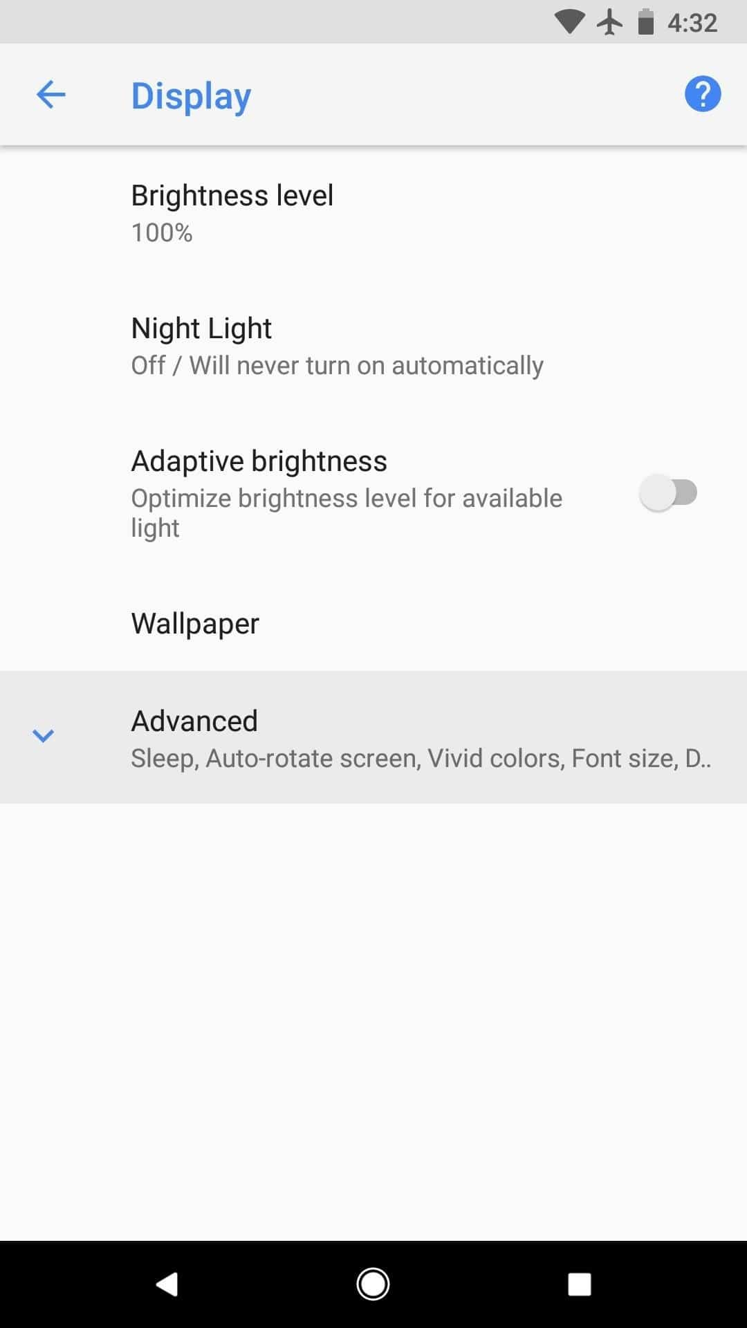 disable Always On Display on Pixel 2