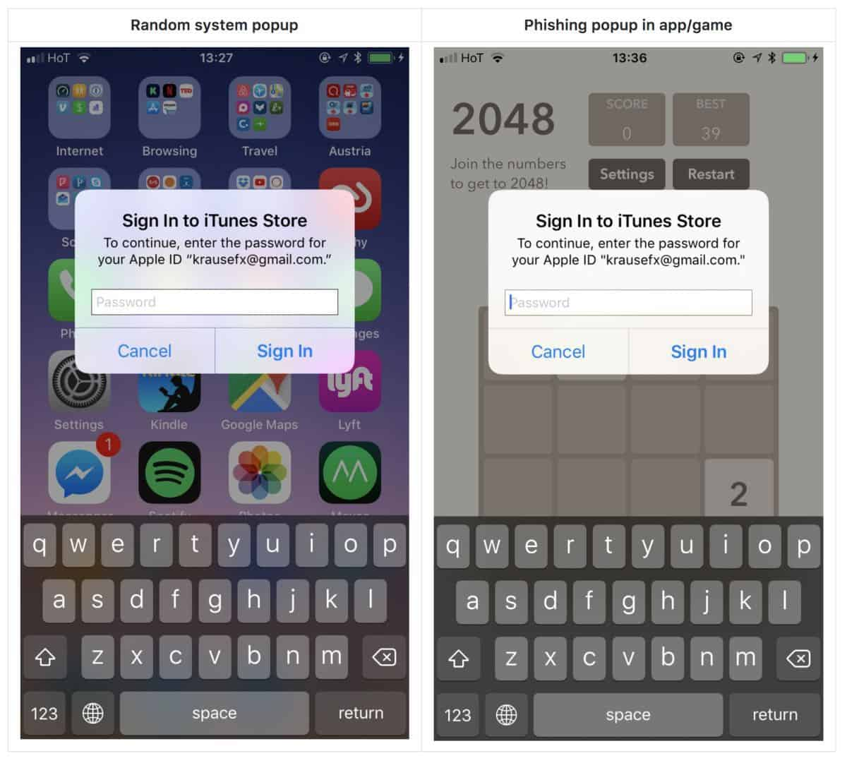 spot a fake Apple ID sign-in prompt