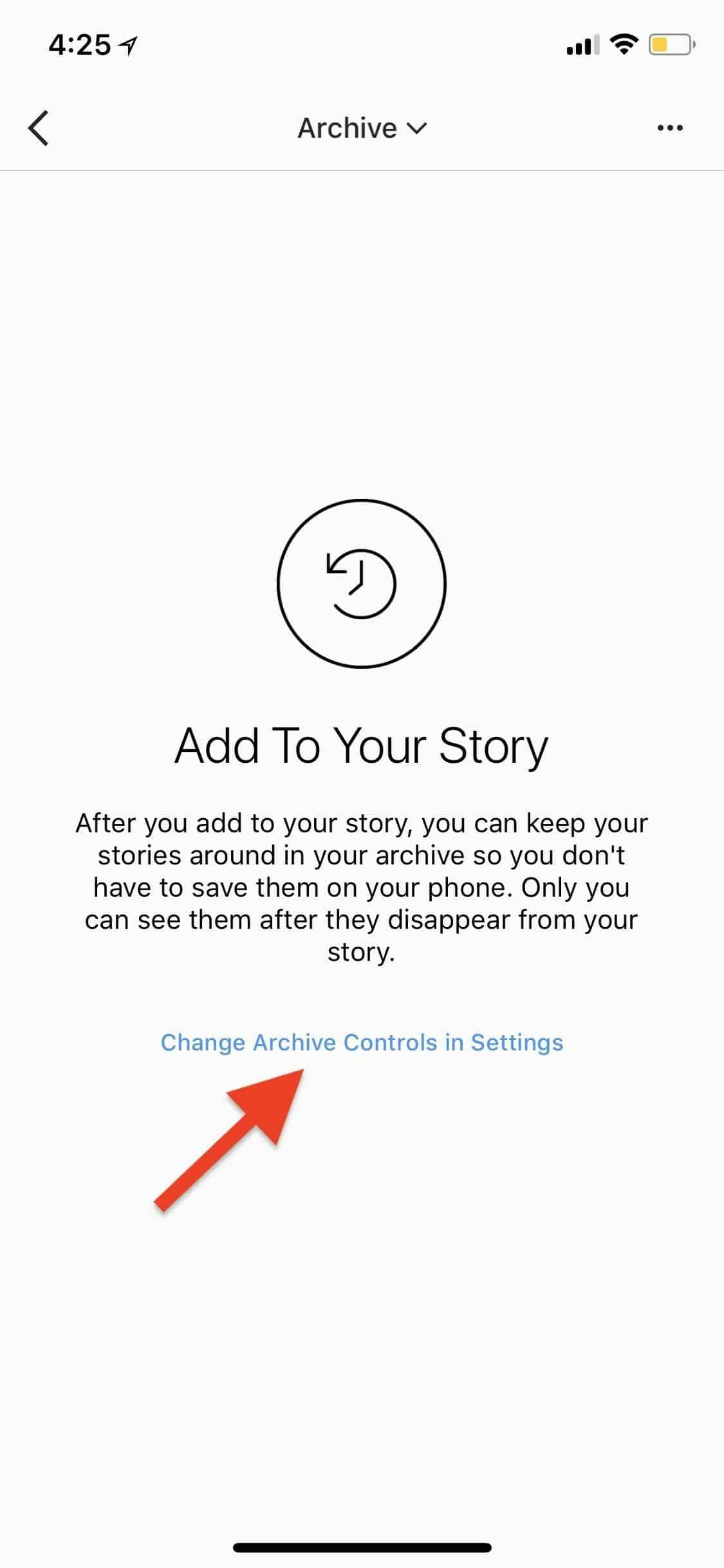 stop Instagram Stories from being archived automatically