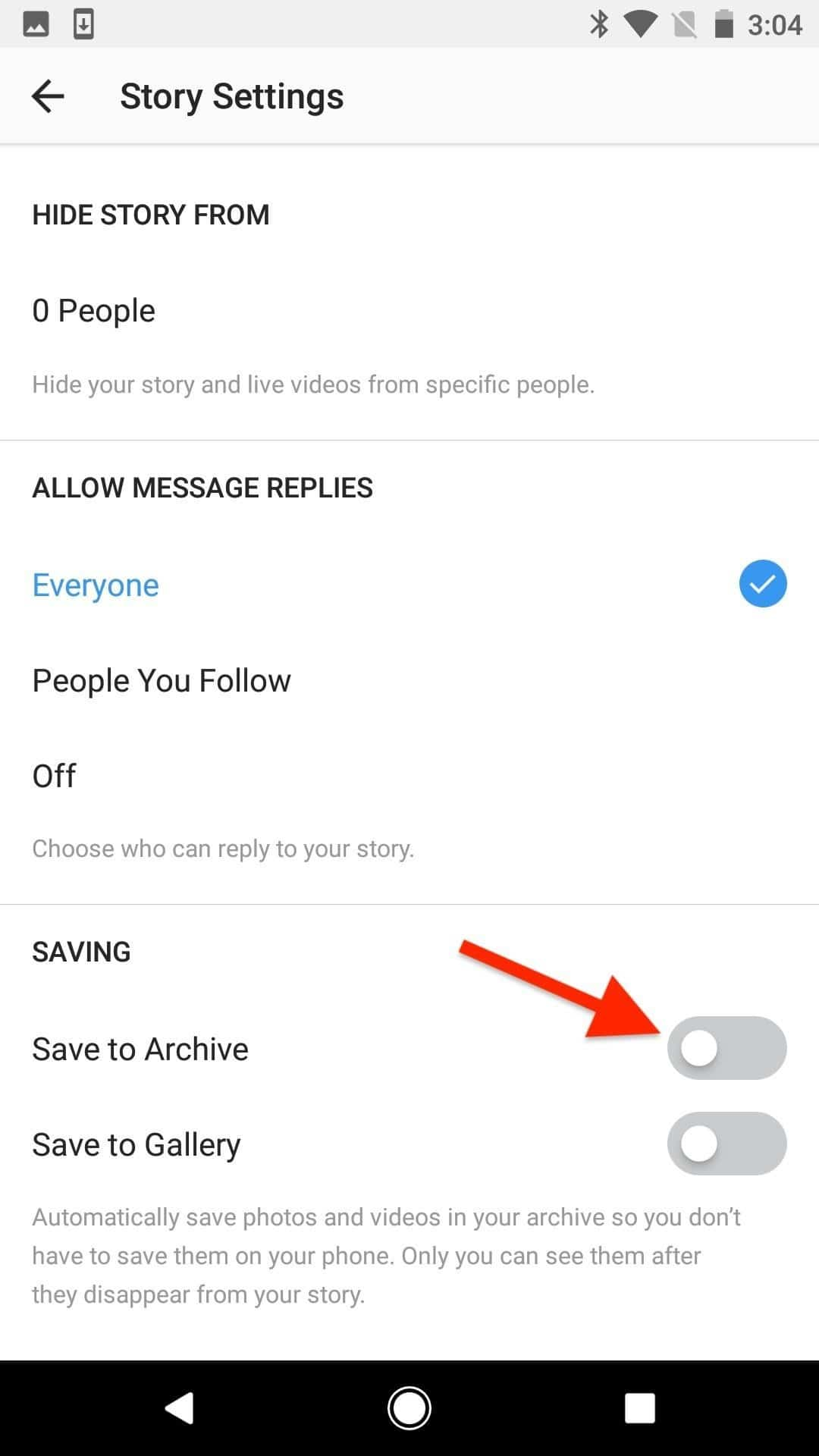 Stop instagram stories from being archived automatically the fourth method doesnt require you navigating through the archive or instagrams options to start simply start a new story by tapping your profile pic ccuart Choice Image
