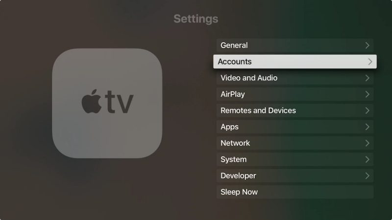 Cancel App Store subscriptions on Apple TV