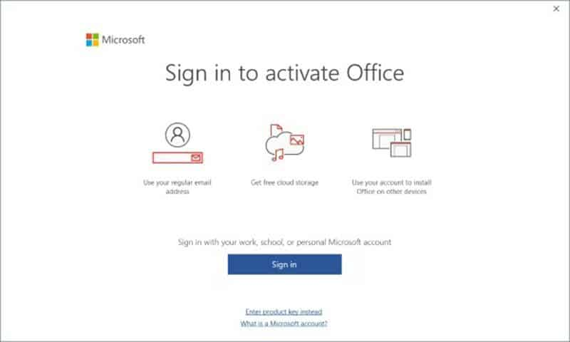 How to activate Microsoft Office 2019/2016