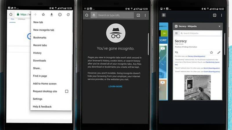 How to use incognito mode on Android